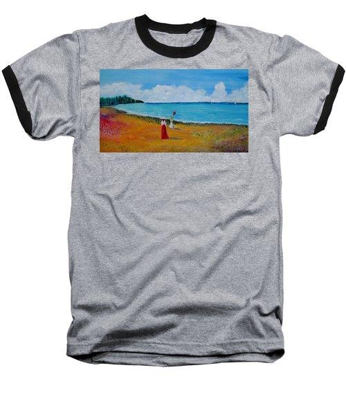 Baseball T-Shirt featuring the painting Mother And Daughter by Marilyn  McNish