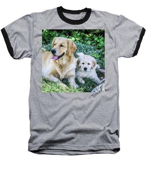 Mother And Pup Baseball T-Shirt
