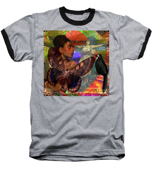 Mother Earth Persecution Baseball T-Shirt by Joseph Mosley