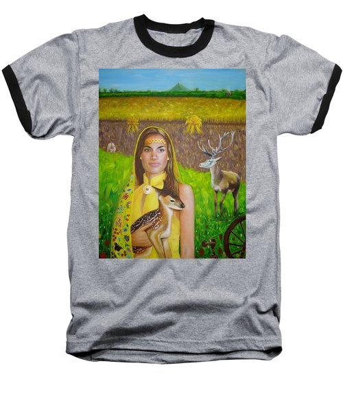 Mother Goddess Ker - Lammas Baseball T-Shirt