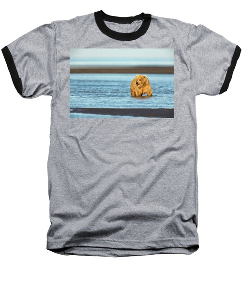 Mother Grizzly Fishing Baseball T-Shirt