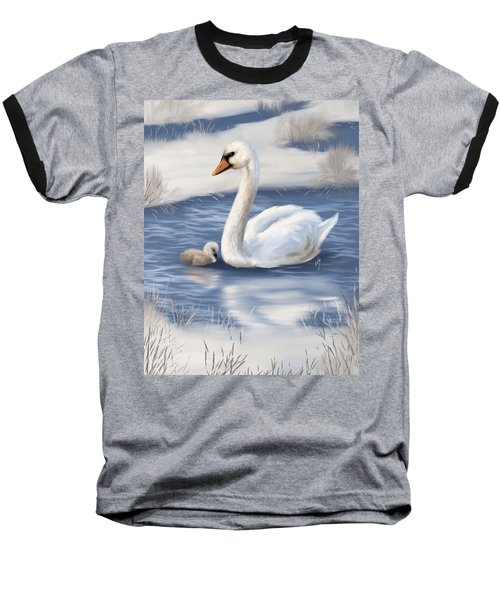 Baseball T-Shirt featuring the painting Mother Love by Veronica Minozzi