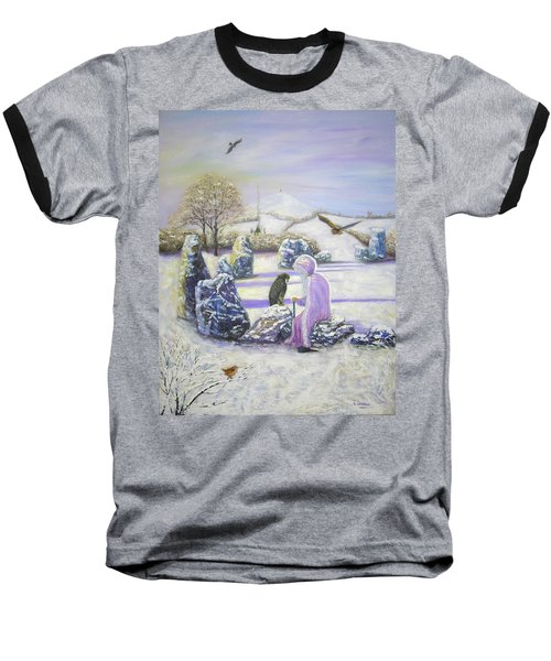 Mother Of Air Goddess Danu - Winter Solstice Baseball T-Shirt