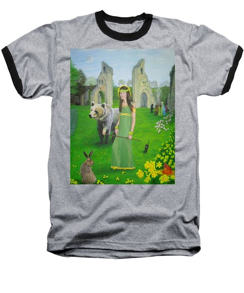 Mother Of Fire Goddess Artha - Spring Equinox Baseball T-Shirt
