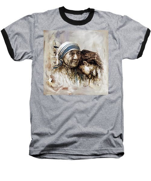 Baseball T-Shirt featuring the painting Mother Teresa  by Gull G