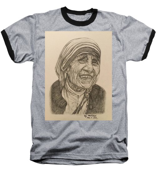Mother Theresa Kindness Baseball T-Shirt by Kent Chua
