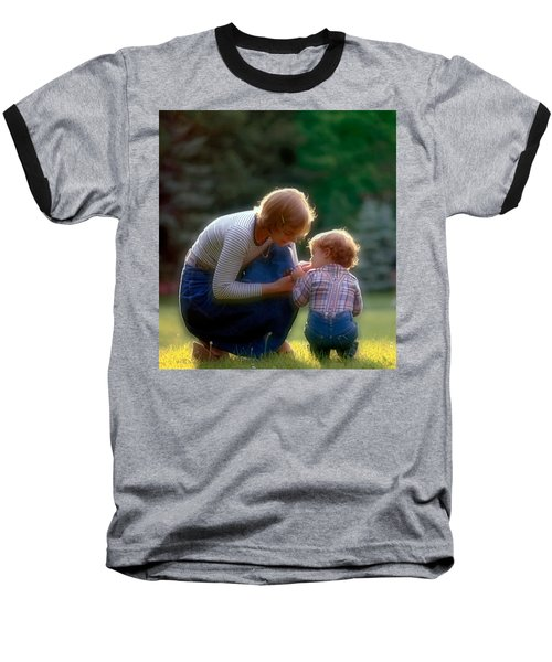 Mother With Kid Baseball T-Shirt