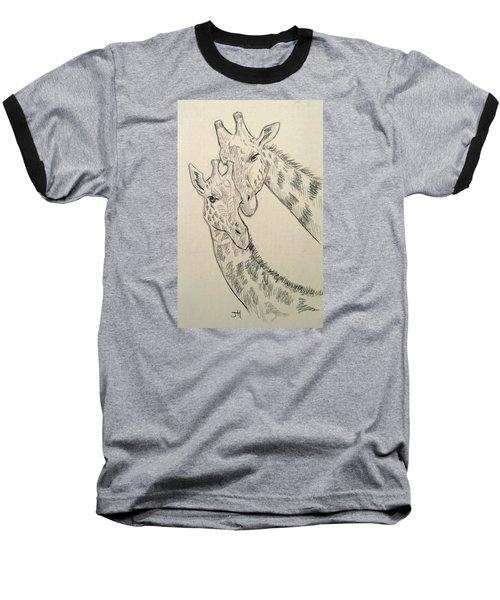 Baseball T-Shirt featuring the drawing Motherly Knudge by Jennifer Hotai