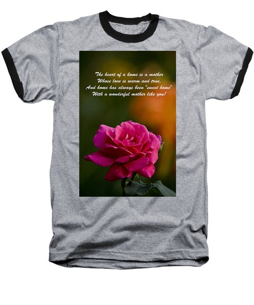 Baseball T-Shirt featuring the photograph Mother's Day Card 2 by Michael Cummings