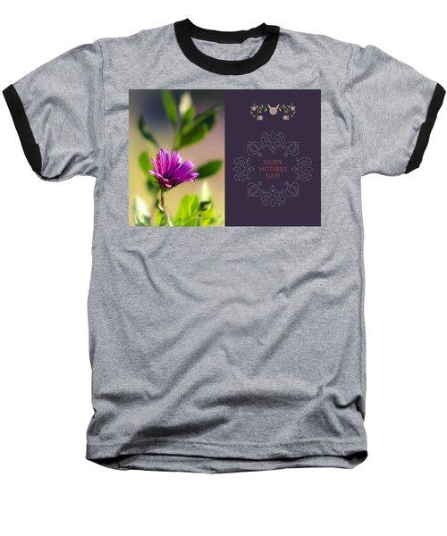 Mother's Day Flower Baseball T-Shirt