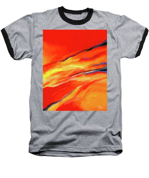 Baseball T-Shirt featuring the painting Motivation by Stephen Anderson