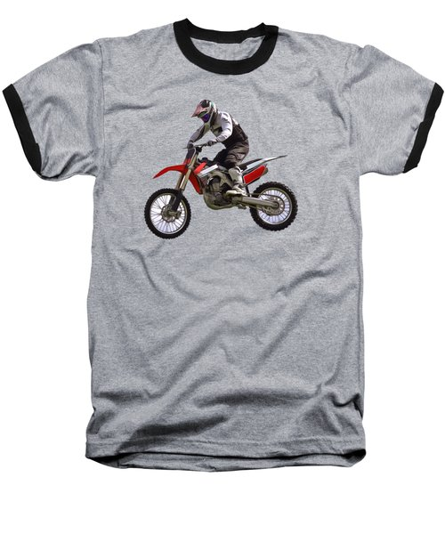 Motocross Baseball T-Shirt by Scott Carruthers