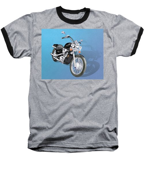 Motorcycle Baseball T-Shirt