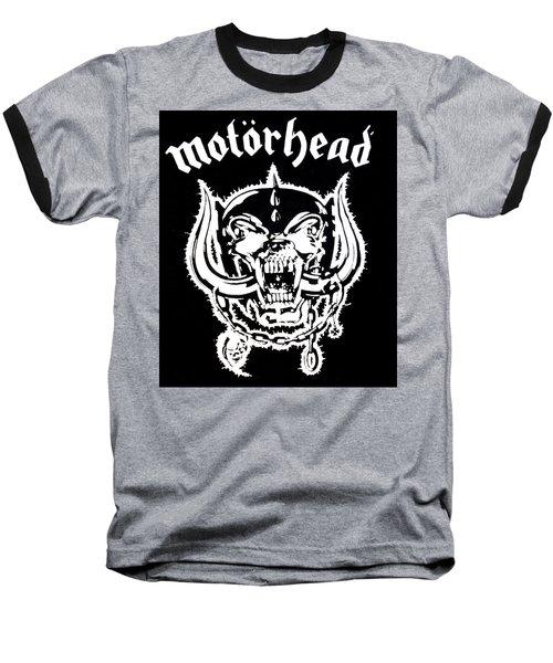 Motorhead Baseball T-Shirt by Gina Dsgn