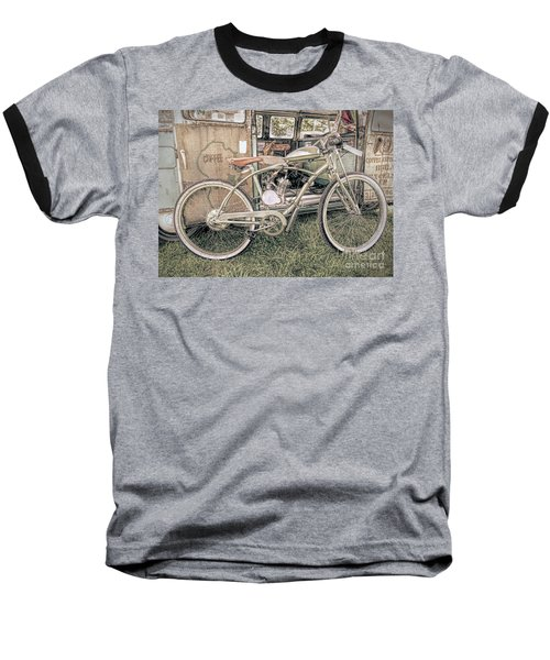 Motorized Bike Baseball T-Shirt