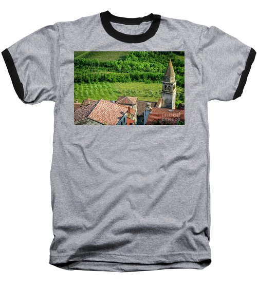 Motovun Istrian Hill Town - A View From The Ramparts, Istria, Croatia Baseball T-Shirt