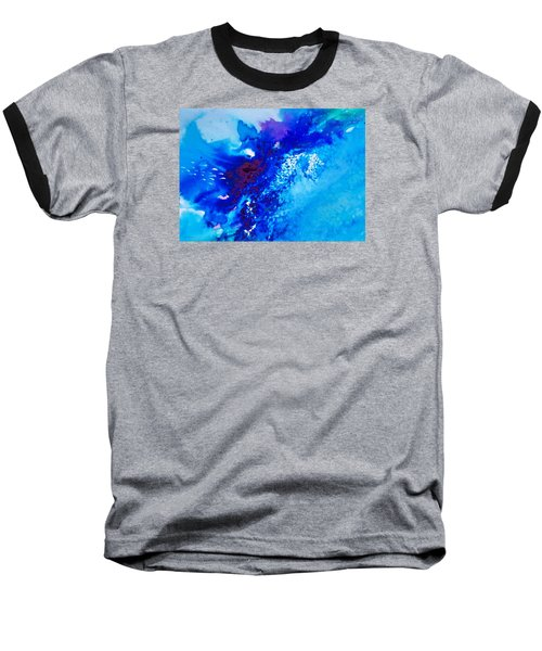 Baseball T-Shirt featuring the painting Motu Arutua by Ed  Heaton