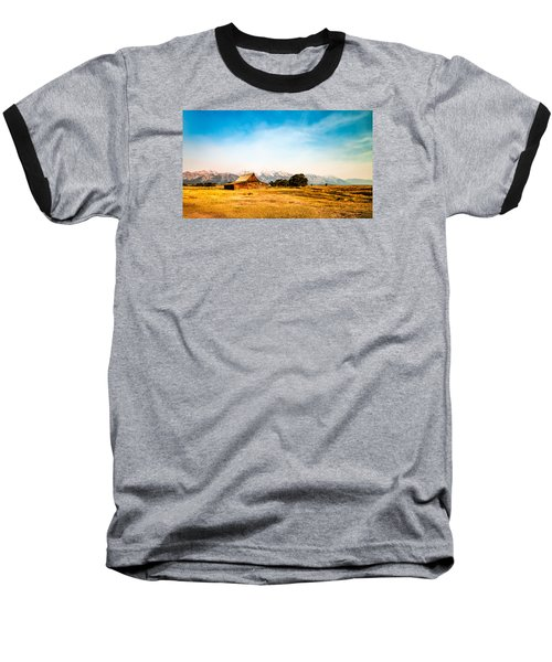 Moulton Barn Baseball T-Shirt by Cathy Donohoue