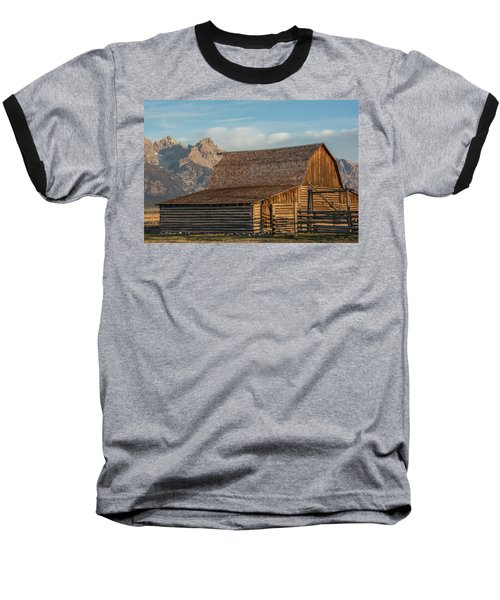 Baseball T-Shirt featuring the photograph Moulton Homestead - Barn At Morning Light by Colleen Coccia