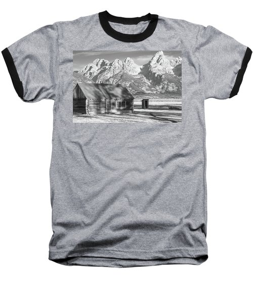 Baseball T-Shirt featuring the photograph Moulton Homestead - Bunkhouse by Colleen Coccia