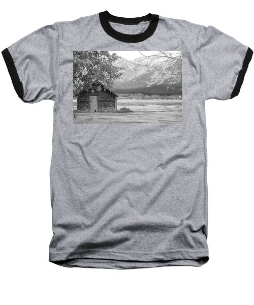 Baseball T-Shirt featuring the photograph Moulton Homestead - Granary by Colleen Coccia