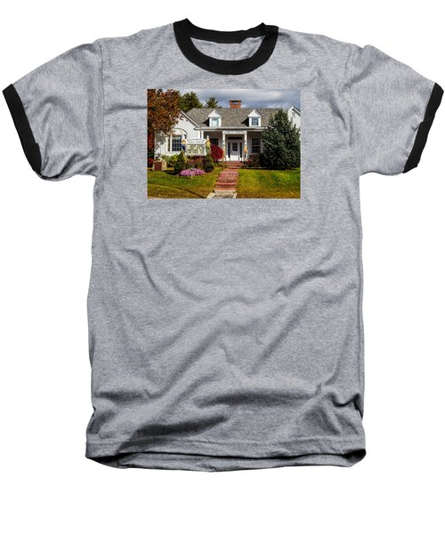 Baseball T-Shirt featuring the photograph Moultonborough Public Library by Nancy De Flon