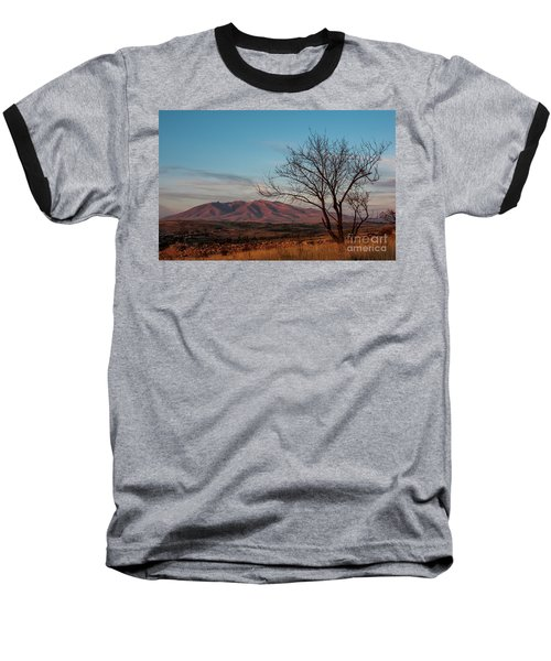 Mount Ara At Sunset With Dead Tree In Front, Armenia Baseball T-Shirt by Gurgen Bakhshetsyan