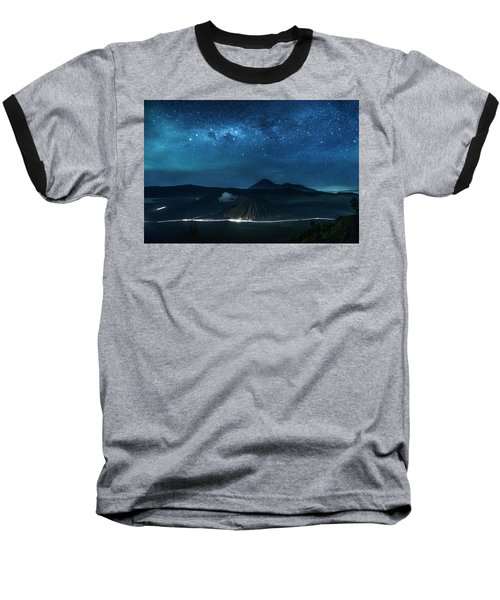 Mount Bromo Resting Under Million Stars Baseball T-Shirt