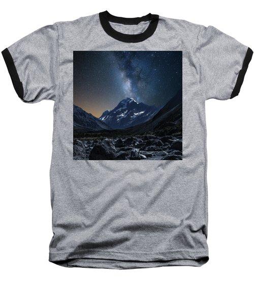 Mount Cook At Night Baseball T-Shirt