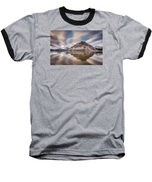 Mount Crowfoot Reflection Baseball T-Shirt