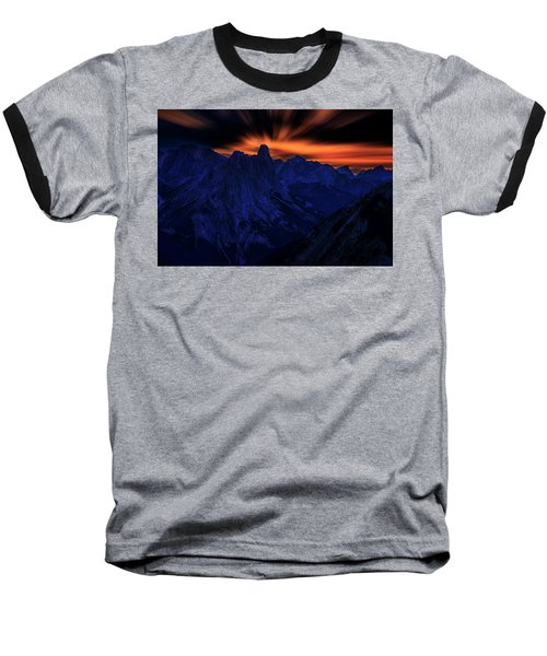 Baseball T-Shirt featuring the photograph Mount Doom by John Poon