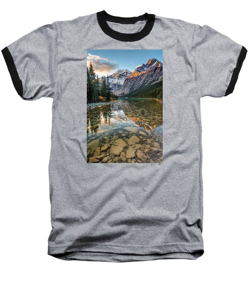 Mount Edith Cavell Sunrise Baseball T-Shirt