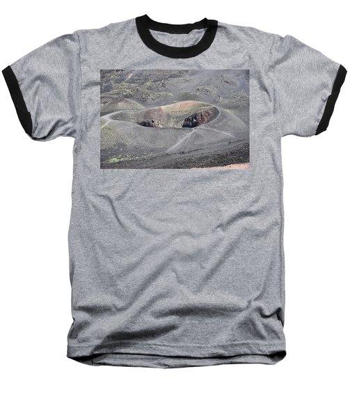 Mount Etna Caldera Baseball T-Shirt