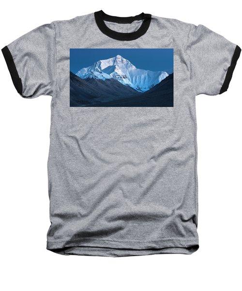 Mount Everest At Blue Hour, Rongbuk, 2007 Baseball T-Shirt by Hitendra SINKAR