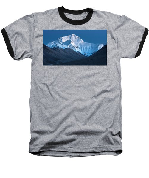 Mount Everest At Blue Hour, Rongbuk, 2007 Baseball T-Shirt