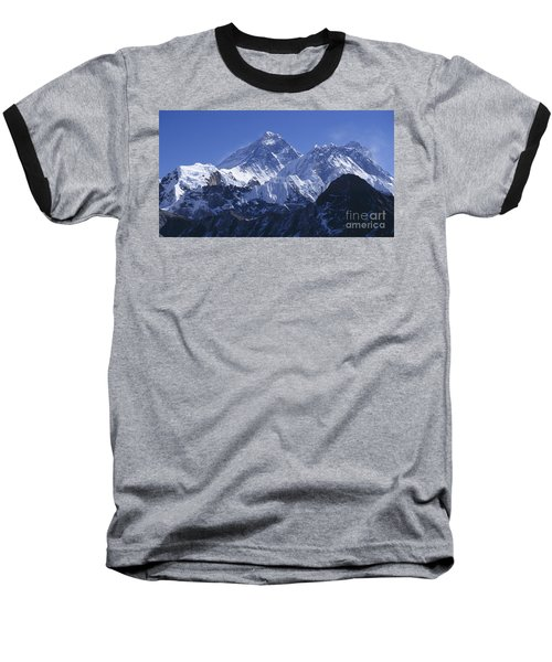 Mount Everest Nepal Baseball T-Shirt by Rudi Prott
