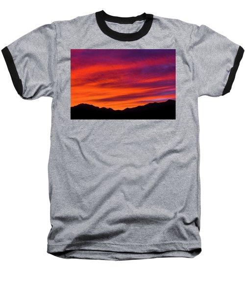 Mount Franklin Purple Sunset Baseball T-Shirt
