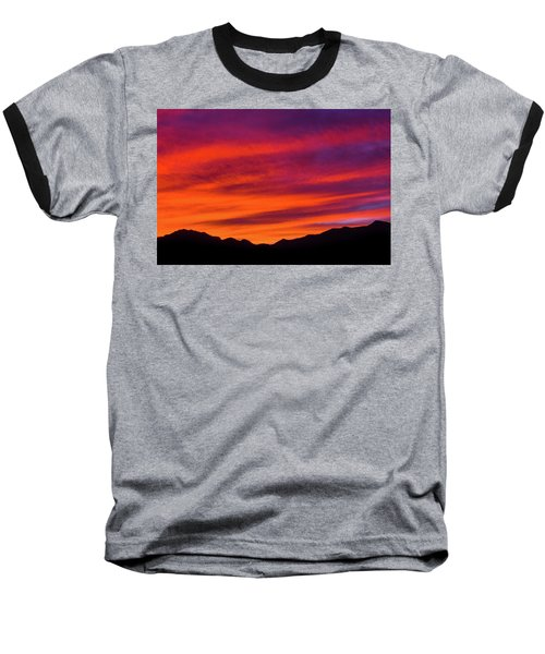 Mount Franklin Purple Sunset Baseball T-Shirt