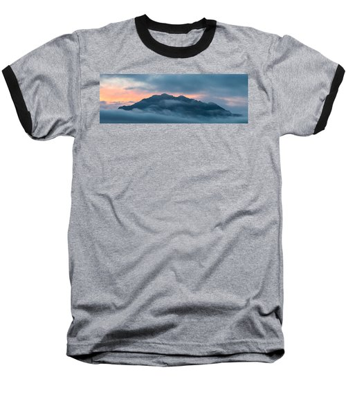 Mount Franklin Stormy Winter Sunset Pano Baseball T-Shirt