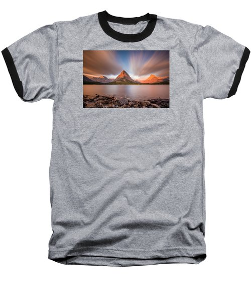 Mount Grinnell Sunrise Baseball T-Shirt