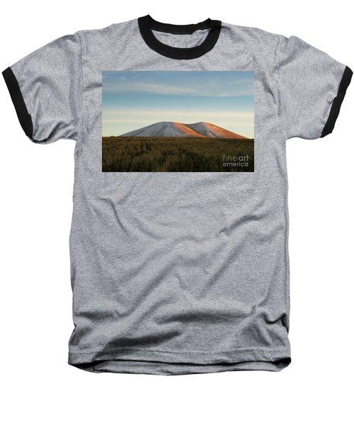 Mount Gutanasar In Front Of Wheat Field At Sunset, Armenia Baseball T-Shirt by Gurgen Bakhshetsyan