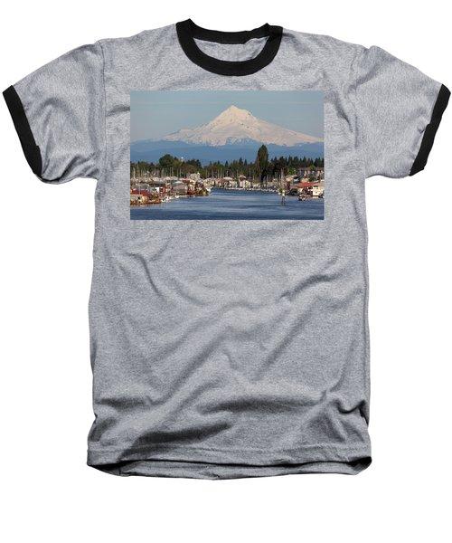 Mount Hood And Columbia River House Boats Baseball T-Shirt