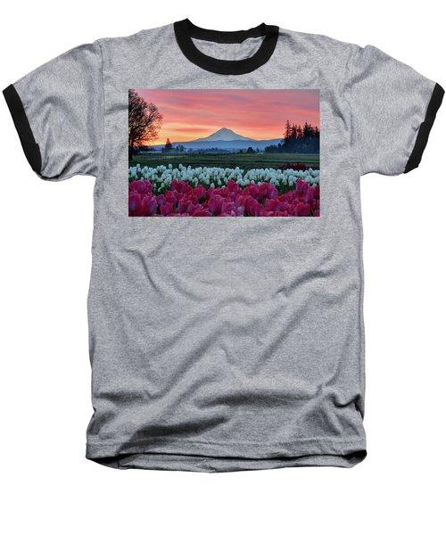 Mount Hood Sunrise Baseball T-Shirt