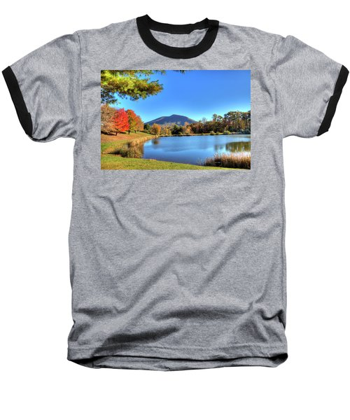 Mount Jefferson Reflection Baseball T-Shirt by Dale R Carlson