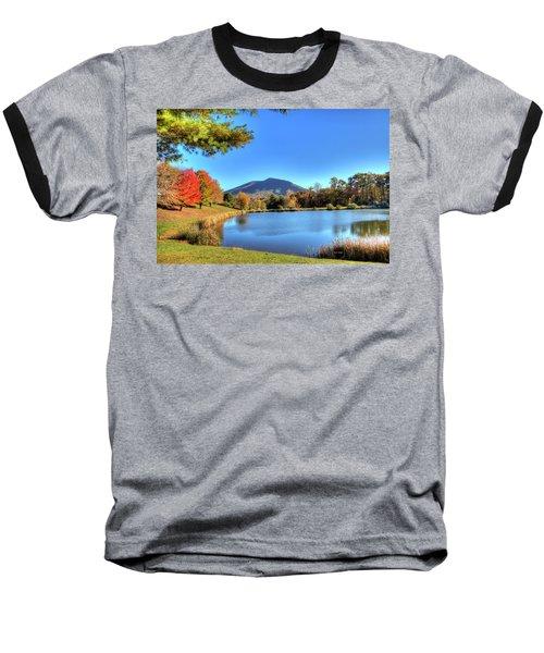 Mount Jefferson Reflection Baseball T-Shirt