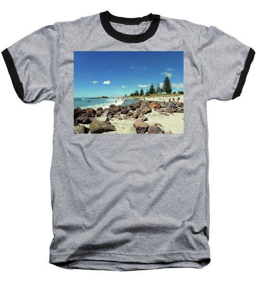 Mount Maunganui Beach 2 - Tauranga New Zealand Baseball T-Shirt by Selena Boron