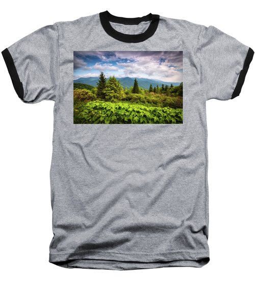Mount Mitchell Asheville Nc Blue Ridge Parkway Mountains Landscape Baseball T-Shirt