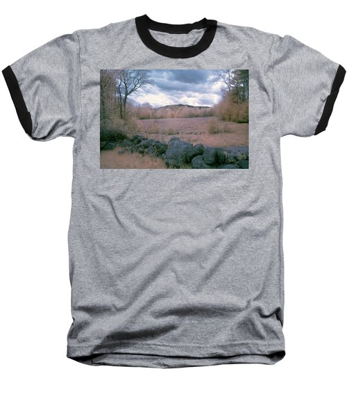Mount Monadnock In Infrared Baseball T-Shirt by Tom Singleton