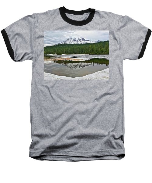 Mount Rainier From Reflection Lakes Baseball T-Shirt