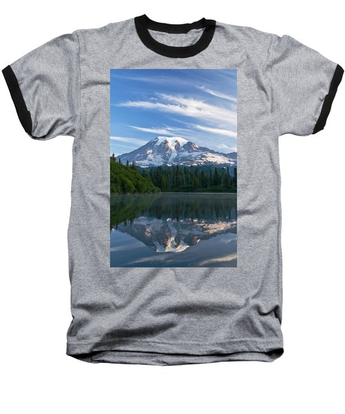 Mount Rainier Reflections Baseball T-Shirt